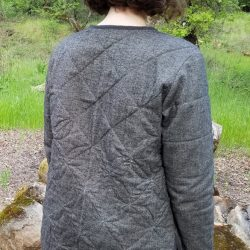 Tamarack Jacket with zipper and ruler work quilting.